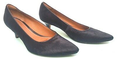 cc61018f9f7 Clarks Artisan Sage Copper Black Pony Hair Leather Pumps Shoes Womens Sz  9.5 M