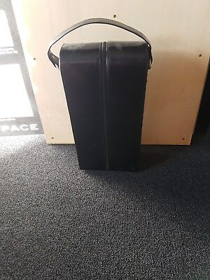 2 bottles leather wine case BUYER MUST COLLECT SURRY HILLS NSW