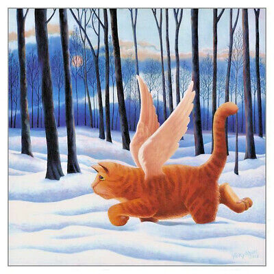 Tenth Life Cat Greeting Card Vicky Mount Christmas Sympathy Greetings Cards