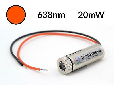 LAMBDAWAVE Red Laser Module 20mW 638nm Dot Line Cross Diode TTL
