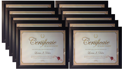 Frame Amo 85x11 Black Contemporary Wood Certificate Frames 1 3 Or