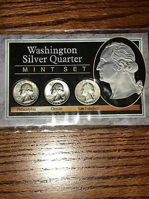 Washington Silver Quarter Mint Set, from the Morgan Mint, with COA included