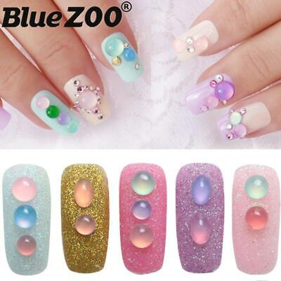 36pcs/box Crystal Nails Decorations New Arrive Jelly Resin Multi-color Round Ova