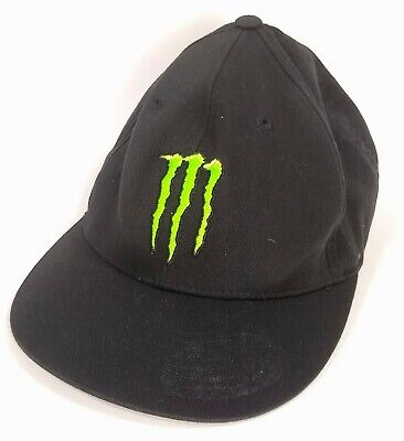 e191e02e MONSTER ENERGY FLEXFIT Hat Black Used Condition No Rips Or Tears Size L-XL