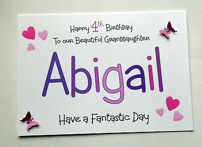 Handmade Personalised Birthday Card Granddaughter Daughter