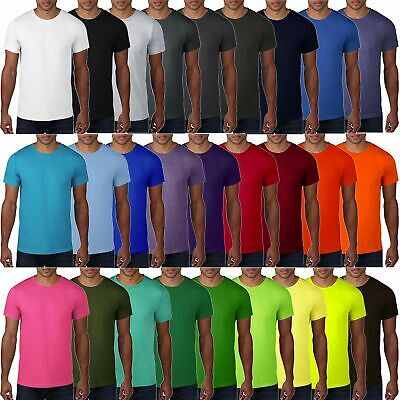 Herren Fashion Tee in 27 Farben Baumwolle T-Shirt Tear Away Etikett Anvil: 980