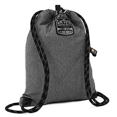 LOCTOTE Flak Sack SPORT - Lightweight Theft-Resistant Drawstring Backpack (Vinta