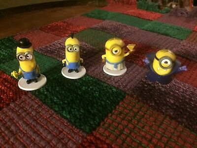 Despicable Me Minions Mini Figures - 4 Figures from movie Minions