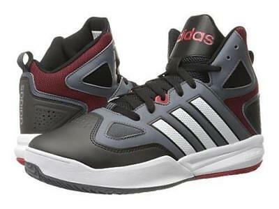 super popular fd4fe d3056 Adidas Neo Cloudfoam Thunder Mid Grey Black Red Basketball Sneaker Shoes 13