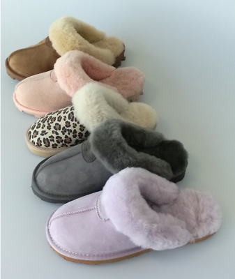 UGG Scuffs/Slippers 100%Australian Twinface Sheepskins Grip Sole Premium 5 Color