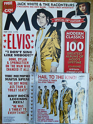 Mojo Magazine May 2006 with CD - Elvis, Jack White,  Chrissie Hynde