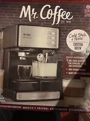 Mr. Coffee Cafe Barista Espresso and Cappuccino Maker, Silver NEW IN BOX $250