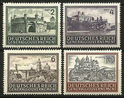 Germany Third Reich Occupation Poland Gen. Government 1943 MNH Buildings Defins