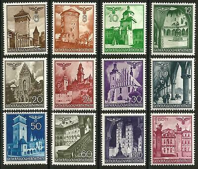 Germany Third Reich Occupation Poland Gen Government 1940 MNH Views Architecture