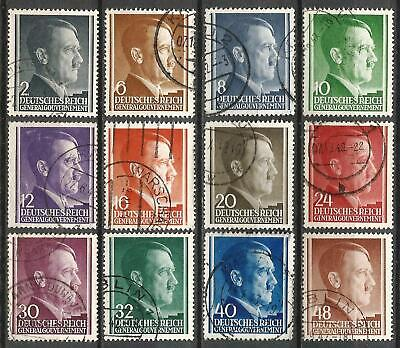 Germany Third Reich Occupation Poland Gen.Government 1941 Used - Hitler Mi-71-82