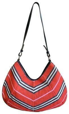 Authentic Burberry London Blue Label Red Canvas Leather Medium Shoulder Hobo  Bag 5b8ff219f4f3d