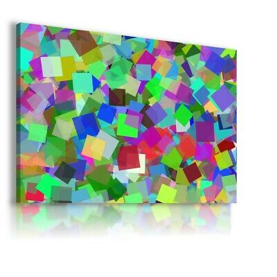 Colorful Pattern Modern Abstract Canvas Wall Art Picture Large Ws128 Unframed