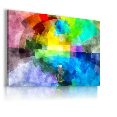 Colorful Pattern Modern Abstract Canvas Wall Art Picture Large Ws139 Unframed