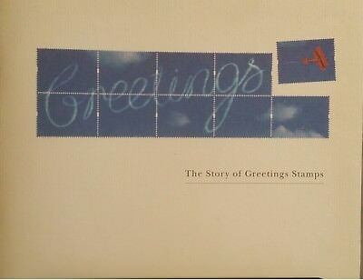 Story of Greetings Stamps Royal Mail 1994 48 page book and labels sheet