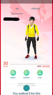 Pokemon-Go-account Level 30 - 2300 Magikarp candies -1400+ Items - 600K Stardust