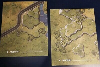 Battletech lot of 2 double-sided new map 2019! Total of 4 maps