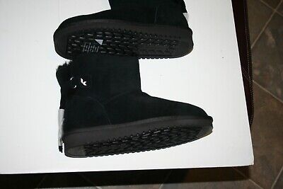 8dce763c6f7 NEW Koolaburra Jaelyn Mini Black Boots Suede Sheepskin 1096412 Women s 8 by  Ugg