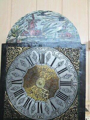 Antique Dutch Wall Clock Post-1900 With Two Bells