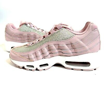 buy online 64244 e55bc NIKE WOMENS AIR Max 95 SE Silver Pink Rose Shimmer Glitter AT0068-600