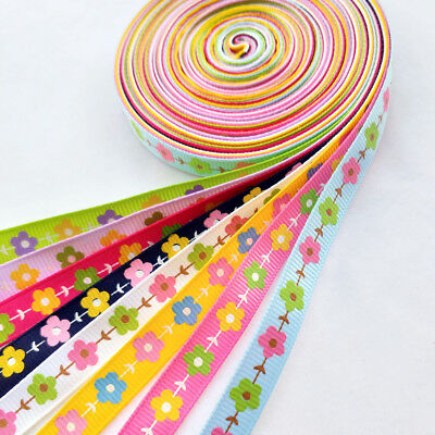 """8Yards 3/8"""" (10mm)Grograin Ribbon Flowers Bows Appliques Craft Gift Packing Doll"""