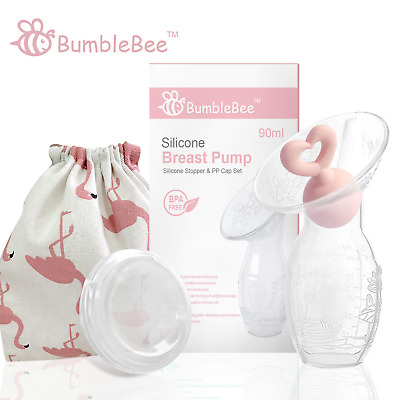 Bumblebee Breast Pump Manual Breast Pump Breastfeeding Collection Cups Pink Pump
