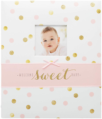 Carter's Pink and Gold Polka Dot My First Years Loose Leaf Memory Book for Baby