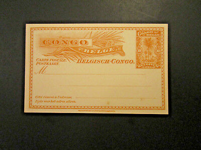Belgian Congo - 3 Early Unused Postal / Reply Cards - M107