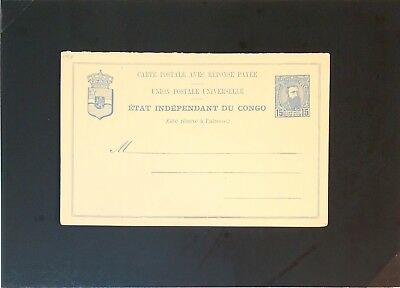 Belgian Congo Early Reply Card Unused / Entire - Z2949