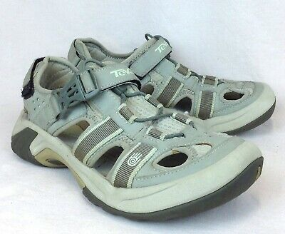 19cdc9b3d564 TEVA Omnium Size 7 Womens Sport Sandals Closed Toe Taupe Brown Trail Hike  Shoes