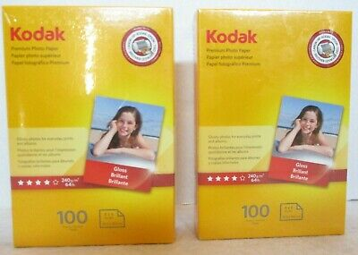 Kodak Premium Photo Paper 8.5 mil Glossy 4 x 6 100 Sheets//Pack 1034388