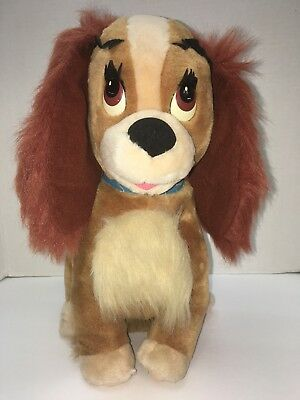 "Vintage Disney Parks Lady and the Tramp Plush Lady Girl Dog 15"" Stuffed Animal"