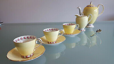 Salisbury Porcelain Coffee Service, Only 3 Cups & Saucers ? But Beauties. A1