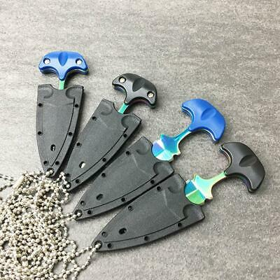 Outdoor Knife Necklace Chain Self Defense Survival Tactical Free Ship dog tags