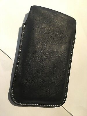 Samsung Galaxy SII i9100 Universal Vertical Slip-in Leather Pouch/Sleeve - Black