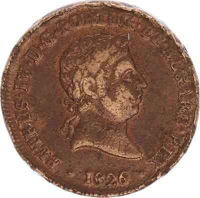 M6143 Portugal 40 Reis Pataco 1827 Pedro IV 1826-1828  -> Make offer