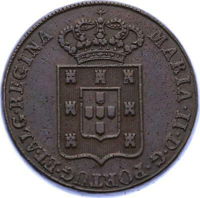 O2109 Very Scarce !! PORTUGAL 40 Reis Miguel I 1833 AU !!!! ->Make offer