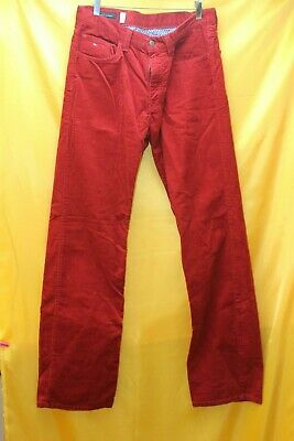 6e539c53cb1 Tommy Hilfiger Madison Straight Fit Red Cord Jeans Size 34W 34L   rec A22 Jt