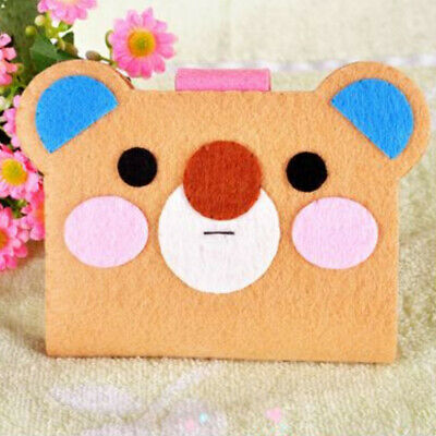 Cute Bear Card Holder Fabric Felt Kits Non-woven Felt Materials Needlework