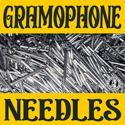300 LOUD TONE VICTROLA NEEDLES for Vintage PHONOGRAPH Gramophone Records