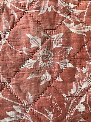 Antique C1900 French Toile Beautiful Quilted Panel Collectors 25/100cms