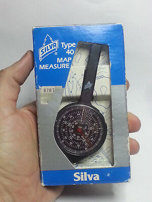 SILVA Type 40 Map Measure NOS in Original Box Made West Germany  W/ Leather Case