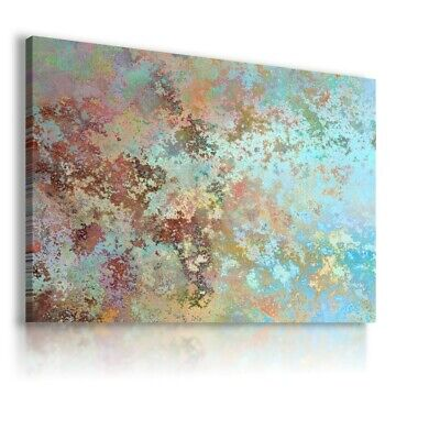 Colorful Rust Modern Abstract Canvas Wall Art Picture Large Ws168 Unframed