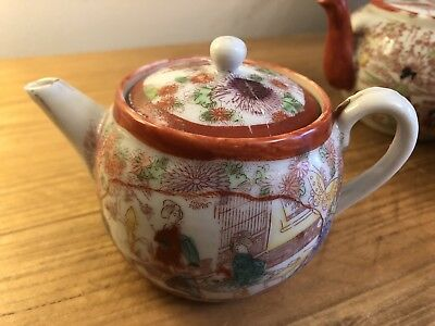 Vintage Japanese Satsuma Porcelain 3 Inch Decorative Teapot In  Lovely Condition