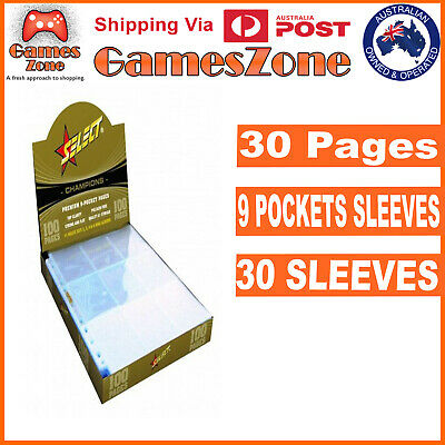 Champions Select Premium 9 Pocket Afl Pokemon Trading Card Sleeves 30 Pages