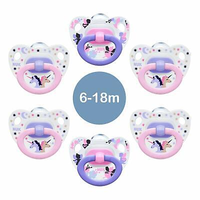 Baby Soothers Set NUK Silicone Pacifier Baby Dummy 6-18 Months Happy Days 6 Pcs